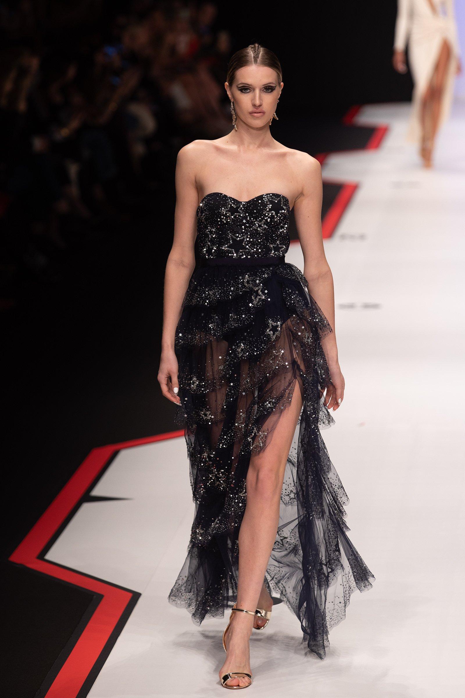 Elisabetta franche fall winter collection F/W 2019-2020 on catwalk during MilanoModaDonna - Milan Fashion Week #mfw